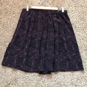 Madras purple and black skirt